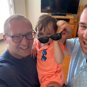 Sunglass selfie with our second cousin on his first vacation to Wildwood, NJ