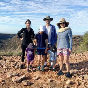 Hiking in Australia with my family