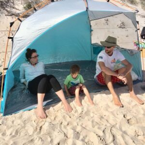 At the beach with my brother Michael and nephew Tim
