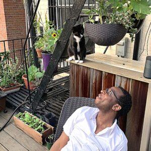 My friend Gary and my cat