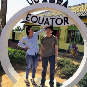 Traveling in Uganda with my friend Aaron