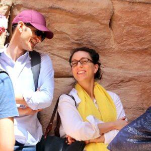 With my friend Farea, traveling in Jordan