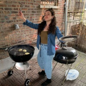 BBQ'ing with my friend Miriam