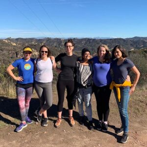 Hiking with my friend Emi and others in California